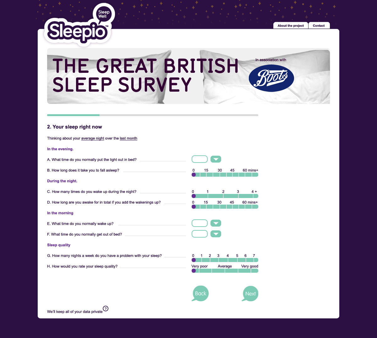 research sleepio gbss question page